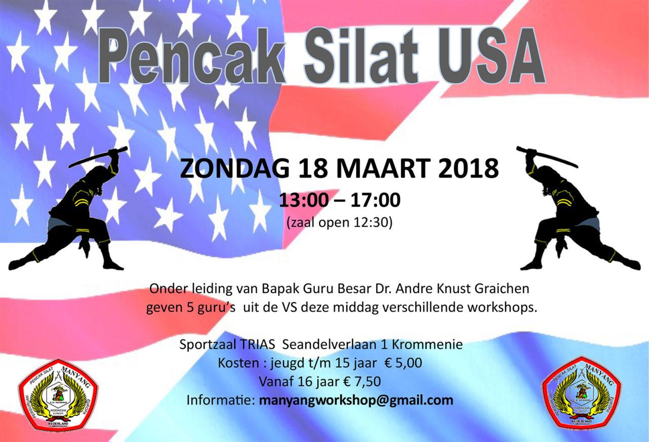 Seminar Pencak Silat USA op 18 maart
